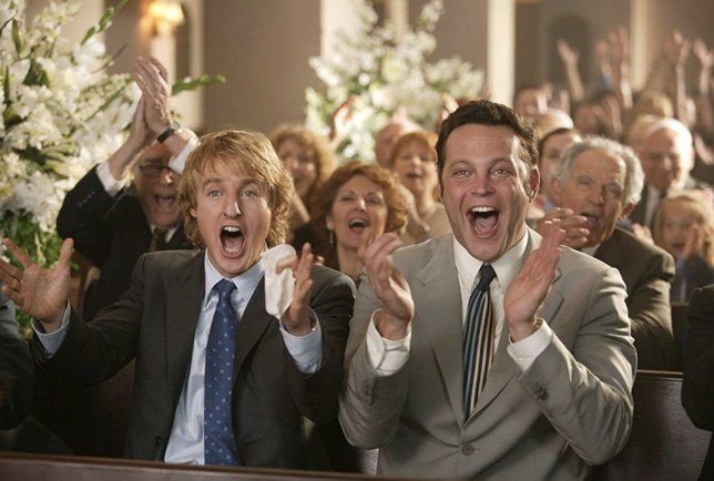 Owen Wilson and Vince Vaughan in still from Wedding Crashers