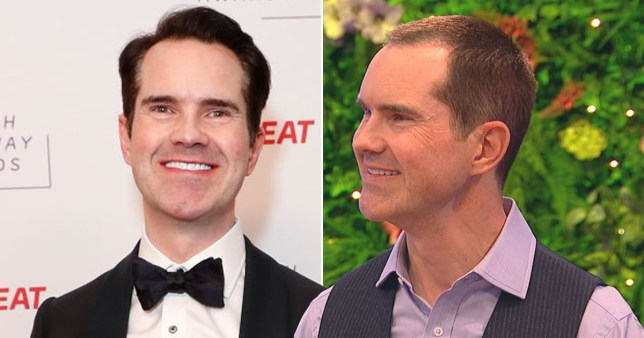 9pm Friday embargo - Jimmy Carr shows off new look after hair transplant Pics: Getty/BBC/Fulwell 73