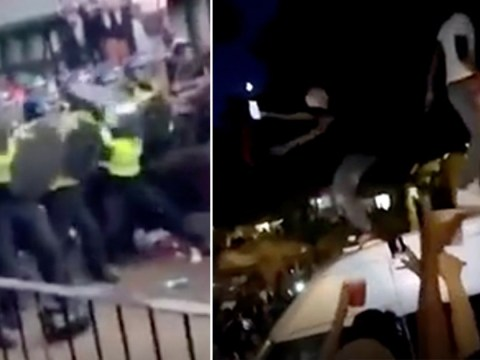 Bottles lobbed at police during third night of illegal London block parties