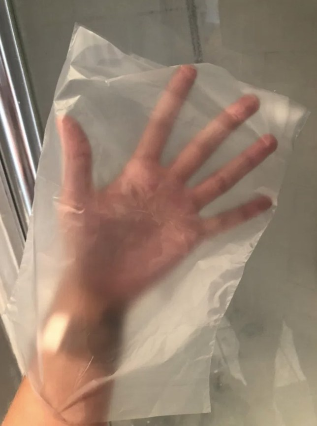 Woman says Cif Cream and plastic bag are the only tools you need to get a gleaming shower screen with no scrubbing