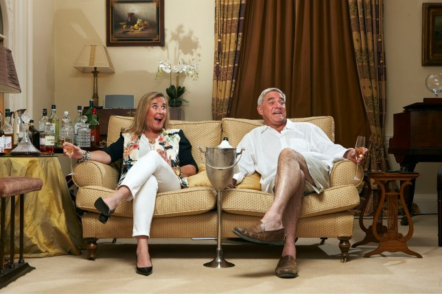 Television Programme: Gogglebox with Stephanie Parker and Dominic Parker.