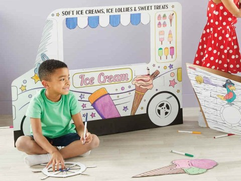 Parents love this £7 giant ice cream van that kids can draw over