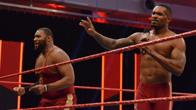 WWE superstars The Street Profits - Angelo Dawkins and Montez Ford