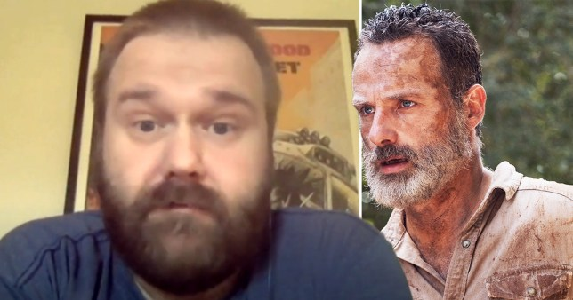 The Walking Dead creator Robert Kirkman and Rick Grimes (Picture: YouTube/AMC)