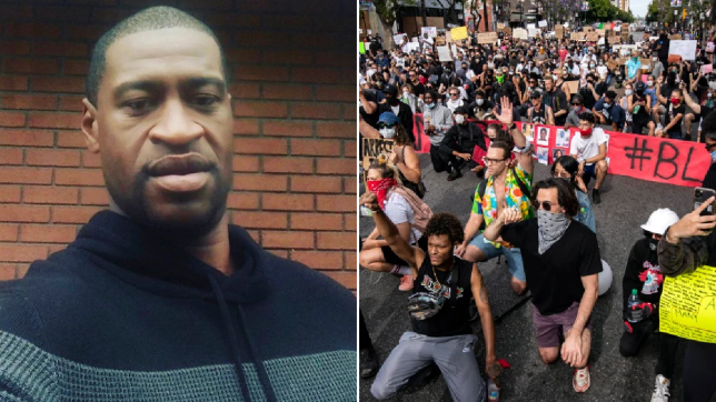 Brits asked to kneel on doorsteps in protest against George Floyd death