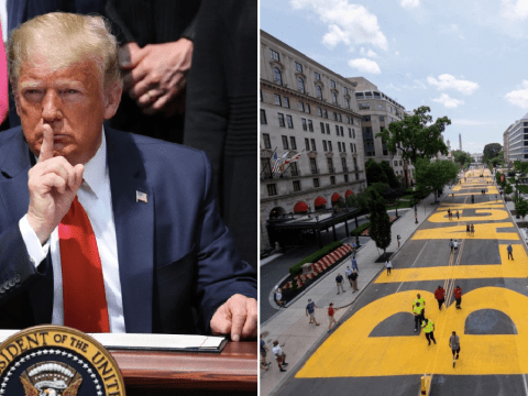DC mayor has 'Black Lives Matter' painted on White House road amid row with Donald Trump