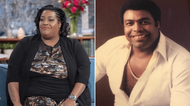 Alison Hammond and her father