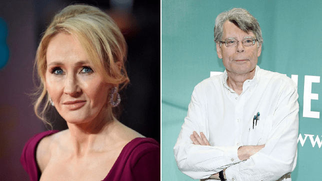 JK Rowling and Stephen King