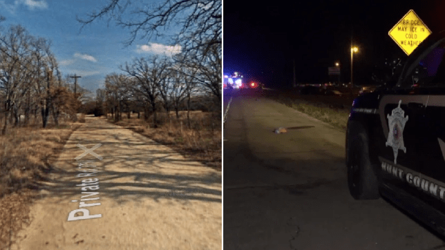 Photos of road where boy was mauled to death by pit bull