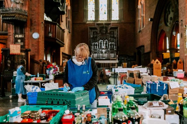 Some food banks have seen their numbers quadruple