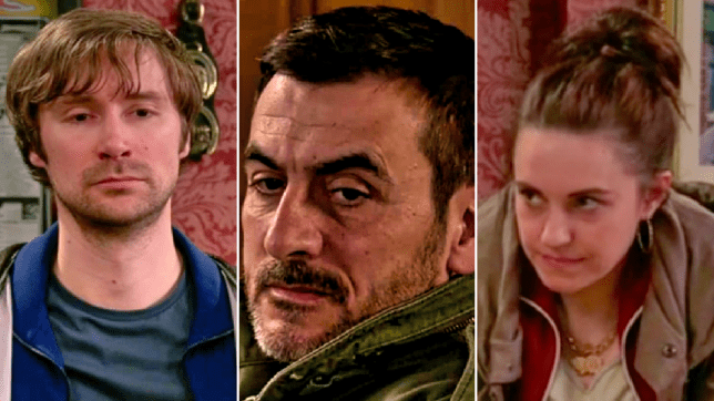 Peter, Jordan and Chesley in Coronation Street