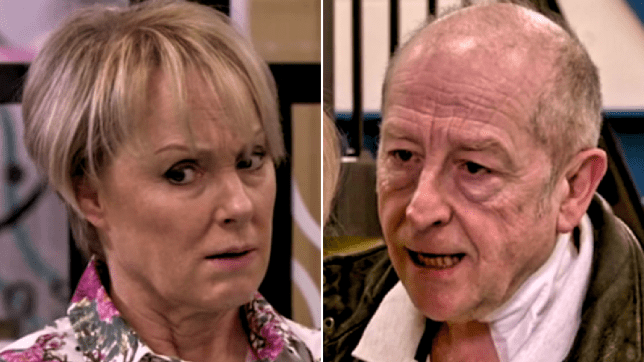 Sally and Geoff in Coronation Street