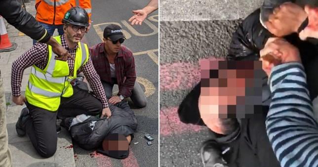 rabbi stabbed in street