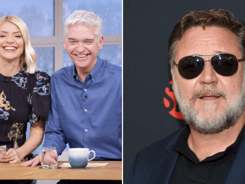 Phillip Schofield and Holly Willoughby kill time on This Morning as they wait for Russell Crowe: 'We've got nothing else to do'