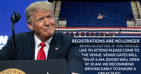 Trump has abandoned online sign-ups after his first rally was spammed by TikTok users