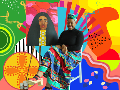 Black Owned: Sarina Mantle, founder of art studio Wildsuga
