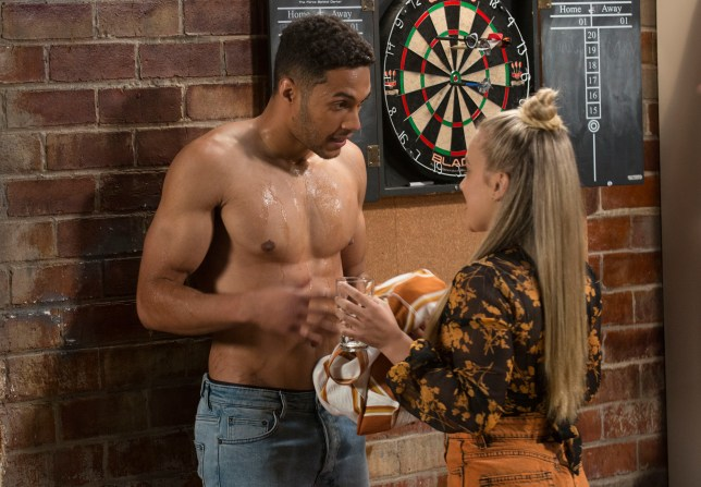 Levi and Roxy in Neighbours