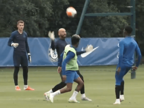 Callum Hudson-Odoi sends reminder to Frank Lampard with class goal in Chelsea training