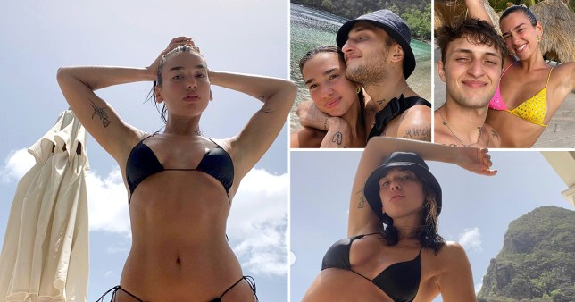 Dua Lipa and boyfriend Anwar Hadid pictured on holiday together in St Lucia