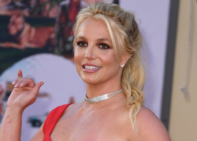 Britney Spears attends Once Upon A Time In Hollywood premiere