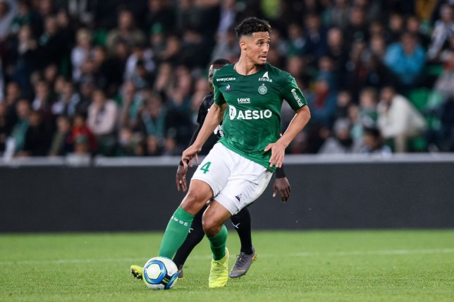 Arsenal new boy William Saliba during Saint-Etienne's Ligue 1 clash with Amiens