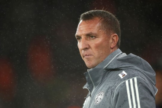 : Brendan Rodgers, Manager of  Leicester City looks on during the Premier League match between Southampton FC and Leicester City at St Mary's Stadium on October 25, 2019 in Southampton, United Kingdom.