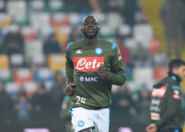 Kalidou Koulibaly of Napoli during the Serie A match between Udinese Calcio and SSC Napoli at Stadio Friuli on December 7, 2019 in Udine, Italy.