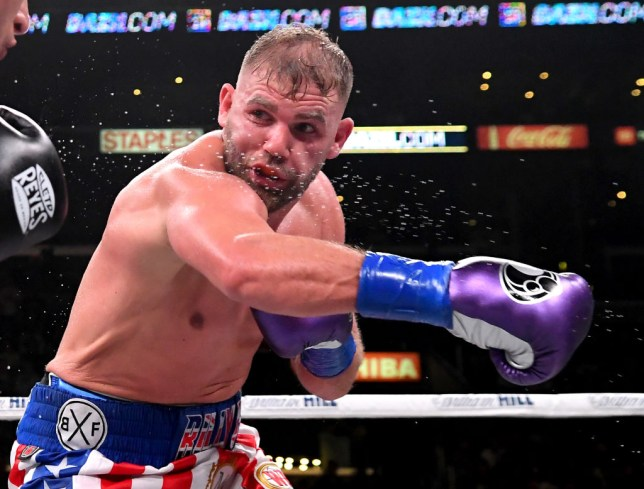 Billy Joe Saunders throws a punch