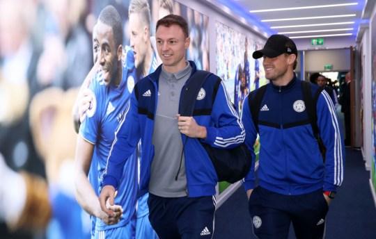 Jonny Evans before Leicester City v Chelsea FC - Premier League