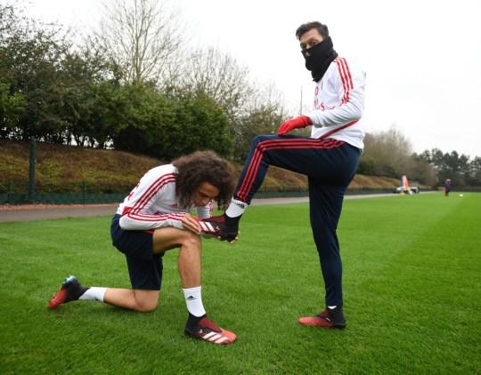 Mesut Ozil in Arsenal Training Session