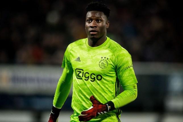 Chelsea transfer target Andre Onana looks on during Ajax's clash with Heerenveen