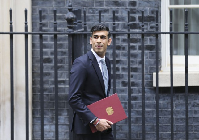 British Chancellor of the Exchequer Rishi Sunak
