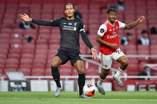 Virgil van Dijk , under pressure from Reiss Nelson, was at fault for Alexandre Lacazette's equaliser for Arsenal against Liverpool