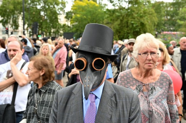 anti mask protestors in london