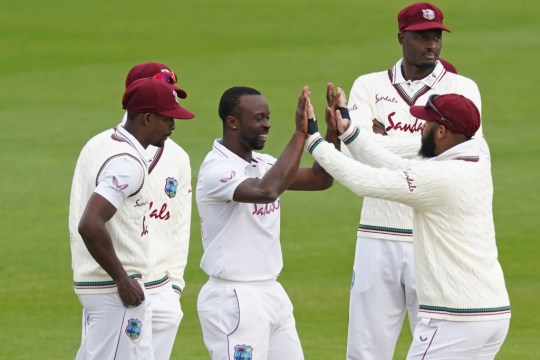 Kemar Roach ended his long wait for a wicket