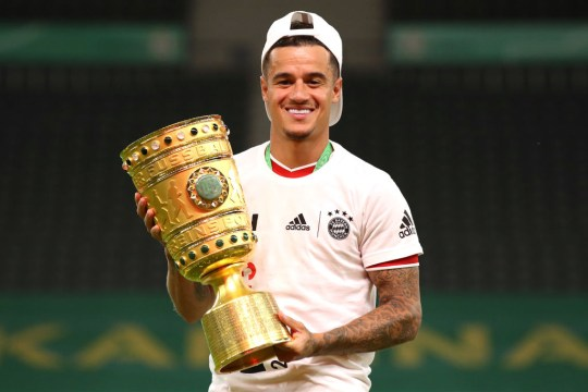 Philippe Coutinho has won the double in the national league and in the cup with Bayern Munich this season