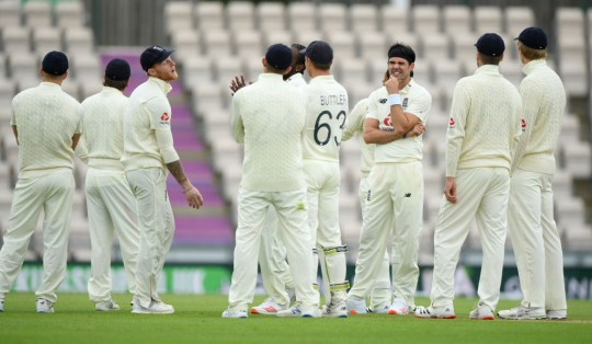 James Anderson took England's sole wicket before play was suspended