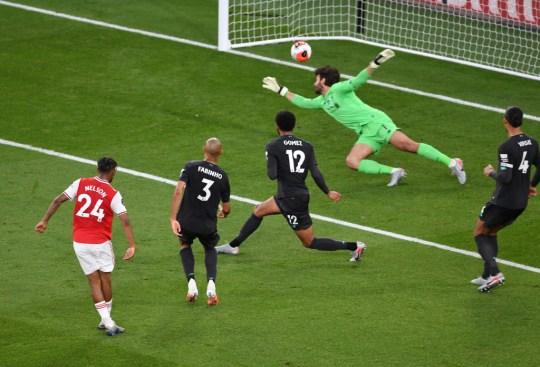 Nelson scores Arsenal's winning goal against Liverpool