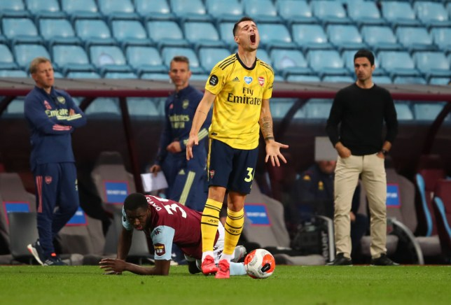 Xhaka was not at all pleased with his side's performance