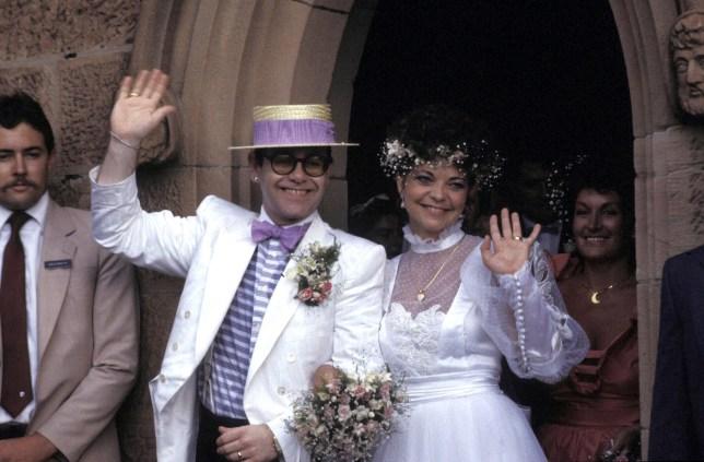 Elton John and Renate Blauel 's Wedding.