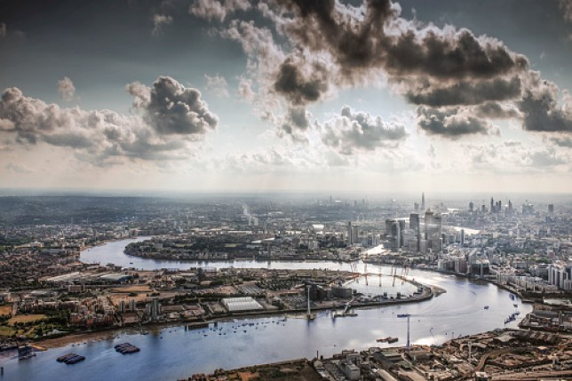 The Thames, the O2 and the city of London (Getty Images)