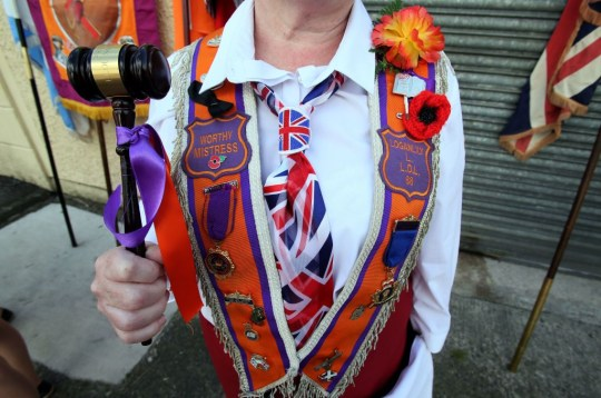 an orangewoman in belfast
