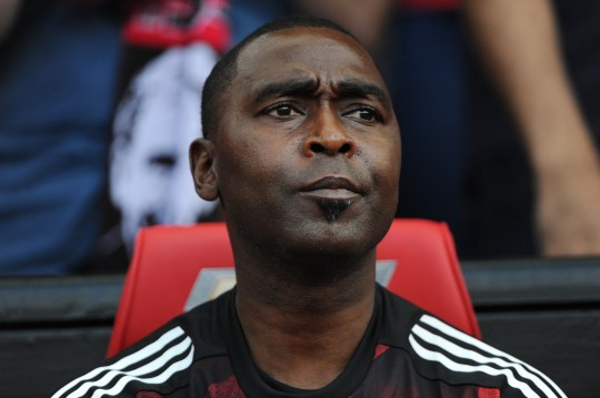 Andy Cole in the Old Trafford dugout