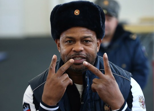 Boxer Roy Jones Jr at Tula Suvorov Military School