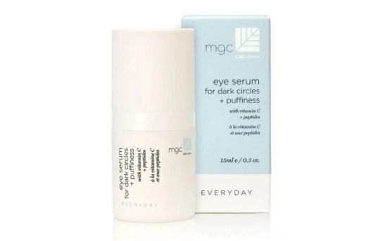 migliori prodotti per la cura della pelle con olio di CBD: siero MGC Derma per occhiaie e gonfiori