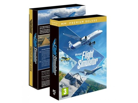 Microsoft Flight Simulator comes on 10 DVDs and is 90GB
