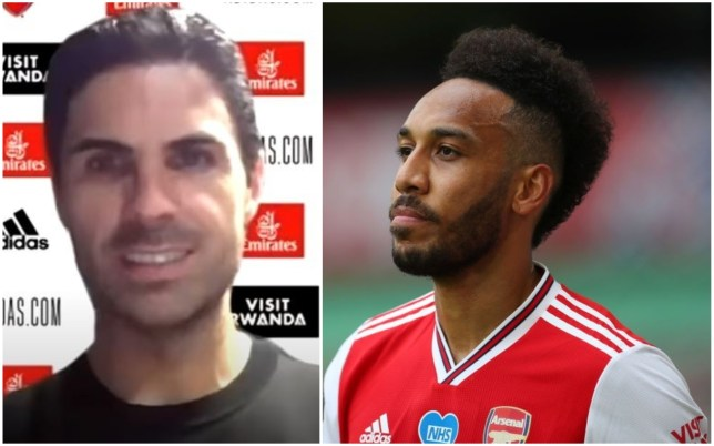 Mikel Arteta says Pierre-Emerick Aubameyang is 'happy' with his role at Arsenal