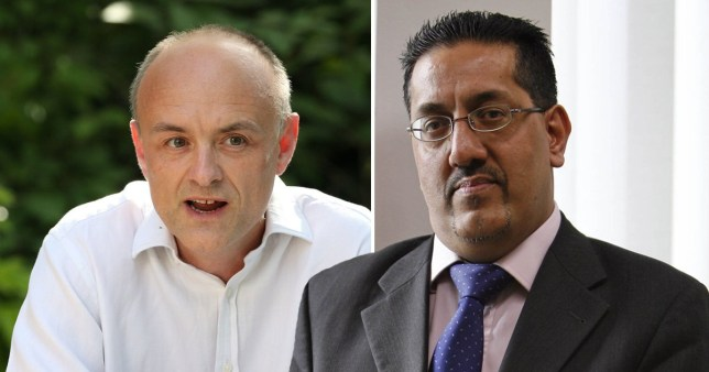 Composite image of Dominic Cummings and Nazir Afzal