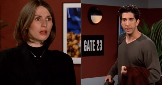 Emily and Ross in Friends
