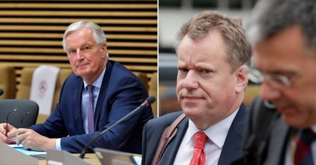 EU chief negotiator Michel Barnier (left) and his British counterpart David Frost